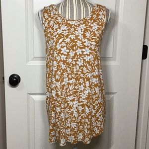Old Navy Luxe Tank, Yellow Floral - XL